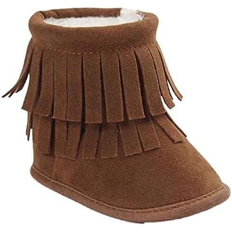 Kingko® Regalo di Natale del bambino del bambino del pattino infantile Snow Boots suola molle Prewalker greppia Scarpe Scarpe invernali Stivali per il neonato