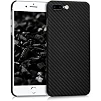kalibri Hülle für Apple iPhone 7 Plus/8 Plus - Handy Schutzhülle - Backcover Aramid Cover Schwarz