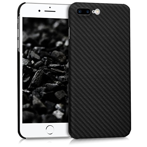 kalibri-Hlle-fr-Apple-iPhone-7-Plus-8-Plus-Handy-Schutzhlle-Backcover-Aramid-Cover-Schwarz