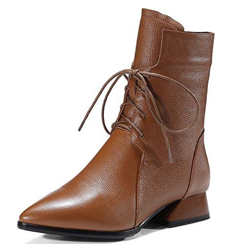 Nine SevenMid Calf Boots - Sandali con Zeppa donna Brown