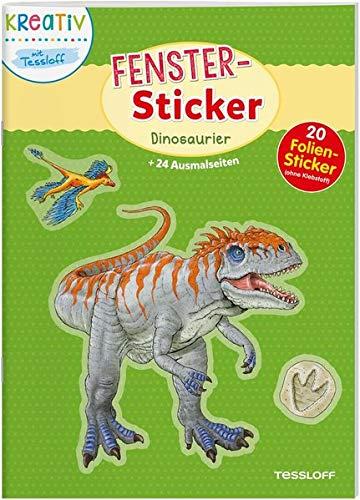 Fenster-Sticker. Dinosaurier: 24 Ausmalseiten, 20 Folien-Sticker - Fenster-folie Wiederverwendbare