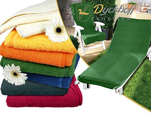 Schonbezug für Gartenstuhl & Gartenliege aus dem Hause Dyckhoff - erhältlich in 6 sommerlichen Farben - mit Kapuze für besseren Halt, Gartenliege (70 x 200 cm), grün