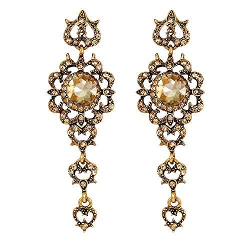 Orecchini Neriorecchini Di Zircone Di Moda Diamante-Encrusted Amore Cuore Orecchino Per Le Ragazze Matrimonio