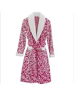 DMMSS Flanella camicia da notte delle donne di autunno e inverno corallo velluto pigiama spessa accappatoi Sleepwear...