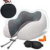 Cuscino da viaggio memory foam - a forma di U collo cuscino con tridimensionale pieno supporto cervicale collo cuscino da viaggio perfetto per aereo auto & home use