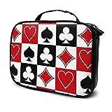 Grid Poker Spielkarten Reise Make-up Kosmetiktasche, Tragbare Bürsten Kulturbeutel Travel Kit...