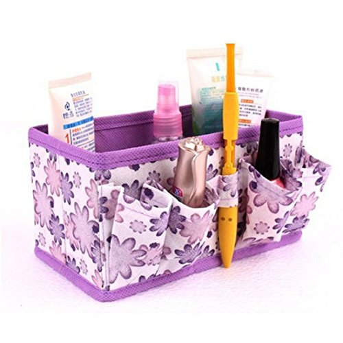 Tonsee® Maquillage Cosmétiques Sac de Rangement Brillant Organisateur pliable Papeterie Conteneurs