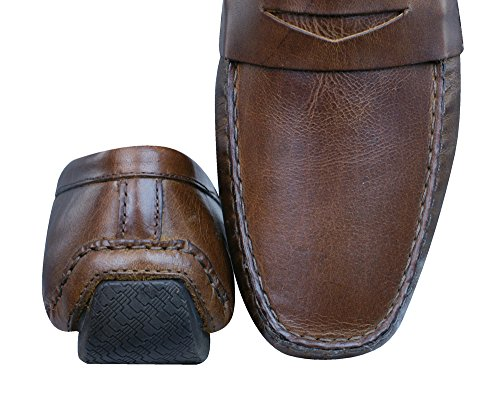 Red Tape Cranfield hommes en cuir Loafers / Chaussures brown