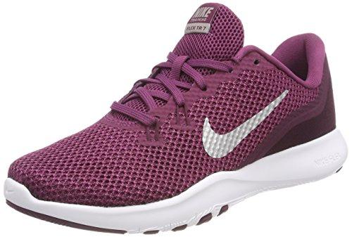 Nike Damen W Flex Trainer 7 Traillaufschuhe, Mehrfarbig (Tea Berry/Metallic Silver/Bordeaux 601), 37.5 EU (Nike Schuhe Flex Trainer)