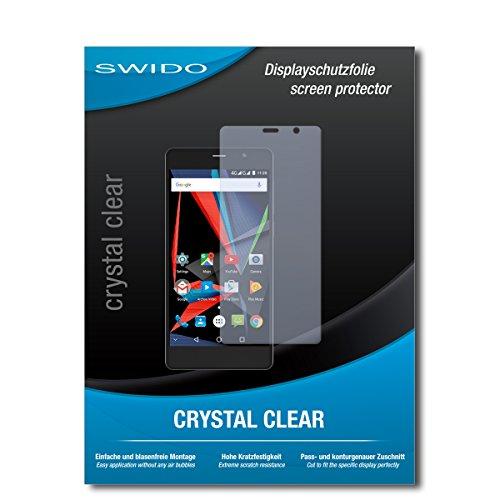 SWIDO Schutzfolie für Archos 55 Diamond Selfie [2 Stück] Kristall-Klar, Hoher Härtegrad, Schutz vor Öl, Staub & Kratzer/Glasfolie, Bildschirmschutz, Bildschirmschutzfolie, Panzerglas-Folie