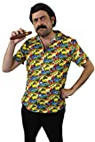 ILOVEFANCYDRESS Pablo Escobar KOSTÜM VERKLEIDUNG GANOVEN Drogen Lord=Fasching Karneval Halloween Party= 3 VERSCHIEDENEN VARIATIONEN=Schnurrbart+ZIGARRE+PERÜCKE-Hemd/GRÖßE-MEDIUM