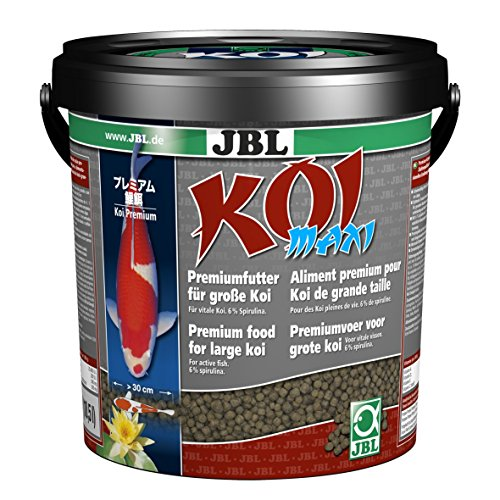 JBL Maxi 41022 Alleinfutter für große Koi ab Länge 30 cm, Schwimmfähige Pellets, 1er Pack (1 x 10,5 l)
