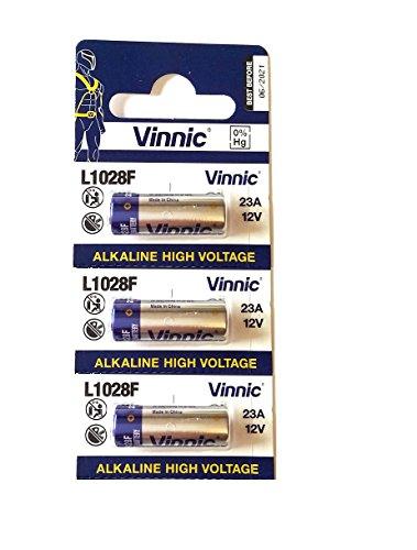 Pile 23A vinnic Haute Voltage 3 pièces 12v