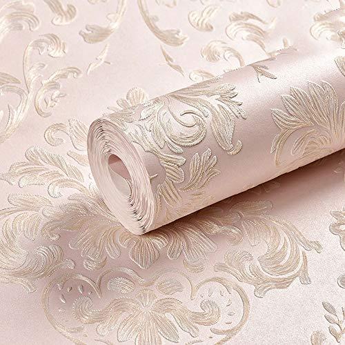Dreidimensionale Geprägte Tapete Vliestapete Im Europäischen Stil, Geeignet for Wohnzimmer-TV-Hintergrundwände (Color : C, Size : 393.7 * 20.87in) -