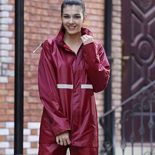 SJSEB Chubasquero Impermeable Impermeable Impermeable Mujeres Hombres Traje  Impermeable + Pantalones Conjunto De 2 Piezas Impermeables 6419066bd5c8