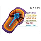 Baskety Plastic Measuring Spoon Different Capacity for Liquid Powder Cake Tools Kitchen Accessories set of set of 6 Pcs