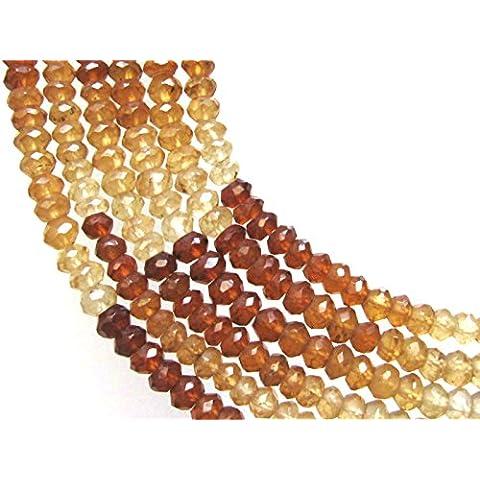 Be You 3-4mm rondelle sfaccettato Hessonite naturale granato pietra preziosa perline 13