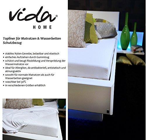 Vida GmbH Premium Topliner Schutzbezug für Matratzen und Wasserbetten Größe 140 x 200 x 30 cm - Premium Wasserbett-matratze
