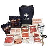 Kit de Primeros Auxilios Definitivo 150 Instrumentos - Productos de la CE - Incluye Colirio, Compresas de Hielo, Manta de Emergencia...