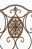 CLP Eisen-Gartenstuhl SIBELL I Klappbarer Gartenstuhl mit edlen Verzierungen I In Verschiedenen Farben erhältlich Antik Braun Vergleich