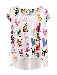 YICHUN Women Girls Summer Leisure T-Shirt Thin Tops Tees Causal Wear Tunic Blouse