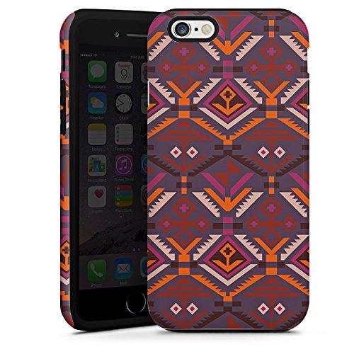 Apple iPhone SE Housse Outdoor Étui militaire Coque Ethnique Automne Motif Aztèques Cas Tough terne