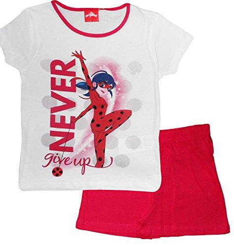 Miraculous Tales Of Ladybug und Cat Noir Mädchen Kurze Pyjamas (White , 4 Jahre)