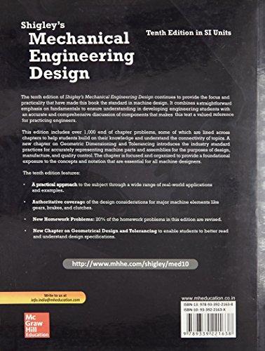 Shigley's Mechanical Engineering Design - SIE