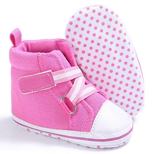 Baby Sneakers, OverDose Baby-Jungen-Mädchen-neugeborene Krippe-Baumwolltuch-weiche alleinige Schuh-Turnschuh-Schuhe Pink