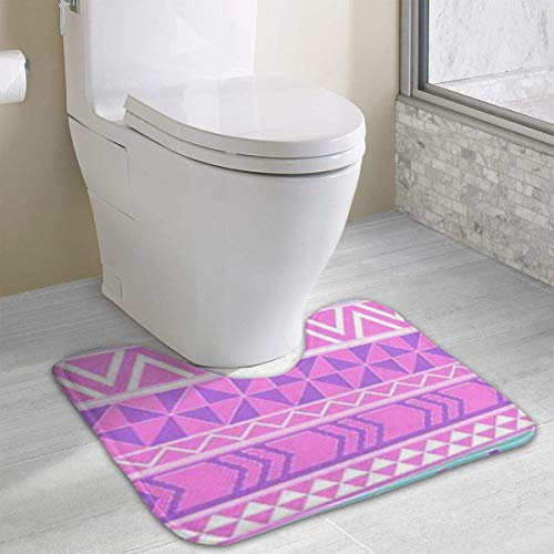 Hoklcvd Personalized Toilet Carpet-Geometric-Shapes WC U-Form MatCartoon Weiche Matte Dusche Boden Teppich Badezimmer