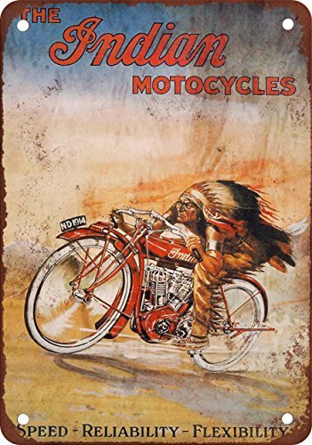 metalsigns The Indian Motorcycles Vintage Look Reproduktion Metall Blechschild 30,5 x 45,7 cm