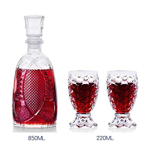 Tumblers cristallo whisky bicchiere, vino decanter durevole eco friendly bpa libero riutilizzabili acqua birra ghiacciata vino set di bicchieri-e 850ml*1+220ml*2