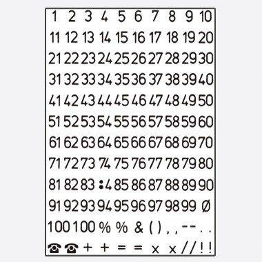 Herma Zahlen, 5mm, 1-100, wetterfest, Folie transparent, schwarz, 2 Bl., 4155