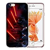 blitz-versand-germany Blitz® JEDI STAR WARS Schutz Hülle Transparent TPU Cartoon Comic iPhone  M14 iPhone 7/8