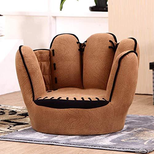elSessel Kindersessel Sitzplatz,Braun Kindersessel Sessel Wohnzimmer Couch Sitz,58x49x44cm(23x19x17inch) ()