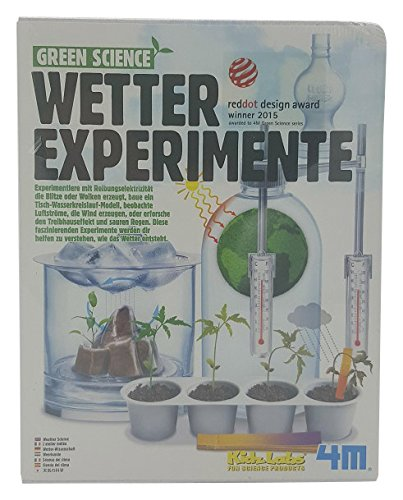 4M 68474 68474-Green Science-Wetter Experimente Spiel (Science Spiele Experiment)