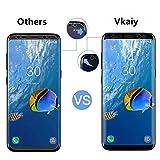 Samsung Galaxy S8 Schutzfolie [Vollständige Abdeckung], Vkaiy 2 Stück Samsung Galaxy S8 Displayschutzfolie, Klar HD Ultra, Blasenfreie, Einfache Installation, Anti-Fingerabdruck, HD-Qualität Folie Schutzfolie (Galaxy S8 Schutzfolie)