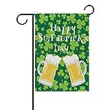 Ahomy Garden Flags Happy ST Patricks Dayshamrock Birra, Poliestere, Multi, 28x40inch