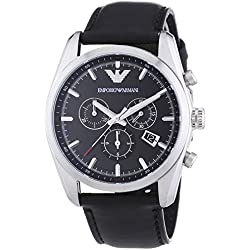 Emporio Armani-Watch Chronograph XL Leather AR6039 Quartz