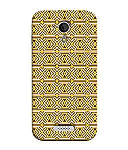 PrintVisa Designer Back Case Cover for Micromax Canvas HD A116 :: Micromax A116 Canvas HD (yellow brown white protective solid )