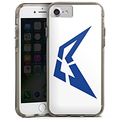 Apple iPhone X Silikon Hülle Case Schutzhülle Visca Barca Fanartikel Merchandise Visca98Barca Youtuber Bumper Case transparent grau