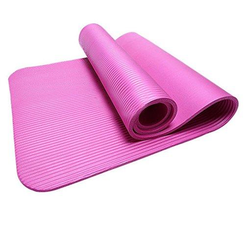 HCFKJ 10 MM Dicke Durable Yoga Matte rutschfeste Übung Fitness Pad Matte Gewicht Verlieren (HOT) (Kleidung Übung)