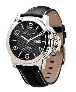 Jorg Gray Herren-Armbanduhr Analog Leder schwarz JG1850-17