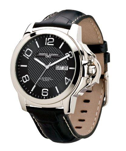Jorg Gray - JG1850-17 - Montre Homme - Quartz Analogique - Bracelet Cuir Noir