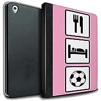 STUFF4 PU Pelle Custodia/Cover/Caso Libro per Apple iPad Pro 9.7 tablet / Calcio/Rosa / Mangiare/Sonno disegno