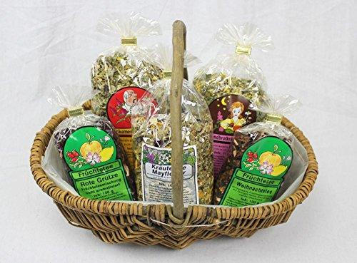 Geschenkkorb Teekorb Präsentkorb 5 x 100 g Set für Teeliebhaber
