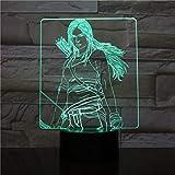 USB3DLED luz de noche KatnissEverdeenFigure niño niño niño bebé regalo decoración lámpara hambre juego lámpara de mesa mesita de noche