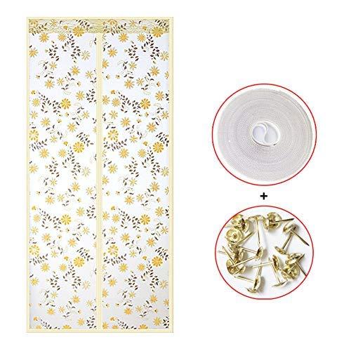 YSA Winddichte Eva Magnetic Screen Tür, selbstdichtende Magnetic Mesh Bug Screen Tür, Anti-Insekten-Bug Off Pet und Kid Friendly-d 33x83inch (85x210cm) -