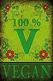 1art1 77980 Kochkunst - 100% Vegan Poster Kunstdruck 120 x 80 cm