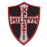 Knights Templar Chi Rho Xpisti Militvm Soldiers of Christ Crusader Cross Tactical Morale Touch Fastener Patch